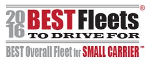 2016 Best Fleets to Drive For, Best Overall Fleet for Small Carrier Logo
