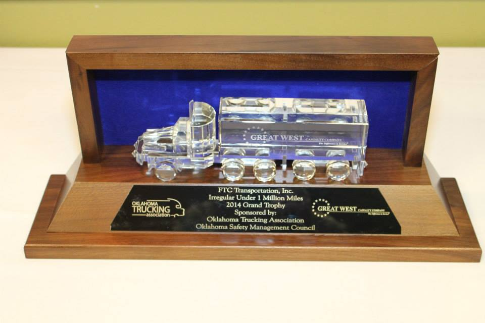 2014 Grand Trophy for Safety in Oklahoma