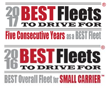 Best Fleets to Drive For Logos, 2017 5 Consecutive Years