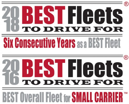 Best Fleets to Drive For Logos for 6 consecutive years as of 2018 and best overall small fleet in 2016